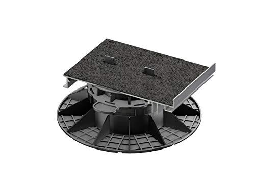 Gartenwelt Riegelsberger 1 Stück Randabschlusshalter aus Aluminium 120x175 mm für Premium Plattenlager Made IN Germany