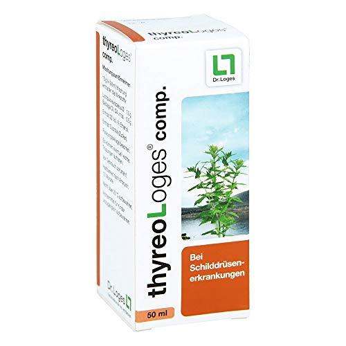 thyreo-Loges® comp. 50 ml - Reguliert bei Schilddrüsenüberfunktion - Homöopathisches Arzneimittel mit Lycopus und Badiaga - Beeinflusst positiv die typischen Symptome der Schilddrüsenüberfunktion