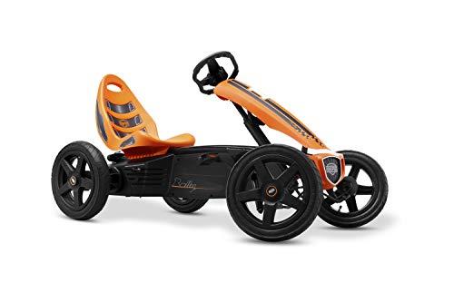 BERG Gokart Rally Orange | Kinderfahrzeug, Tretauto mit verstellbarer Sitz, Mit Feilauf, Kinderspielzeug geeignet für Kinder im Alter von 4-12 Jahren