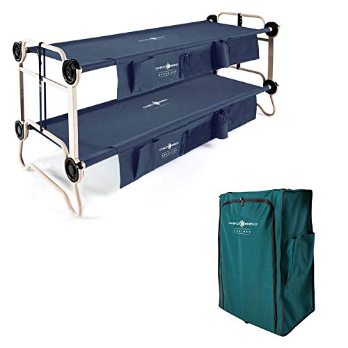 Disc-O-Bed Large Cam-O-Bunk Double Cot + 3 Shelf 6 Compartment Hanging Cabinet