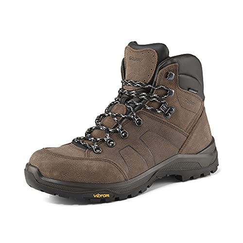 Grisport Hiking Evo High,Damen,Herren,Trekking- und Wanderstiefel,Berg-Schuh,wasserdicht,mittelhoher Schaft,Zehenkappenschutz,Dunkelbraun,EU 39