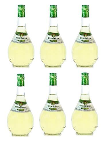 6x Ampelicious Weiß trocken je 500ml 11% griechischer Wein in kleinen Flaschen Weißwein dry + Probiersachet 10ml Olivenöl