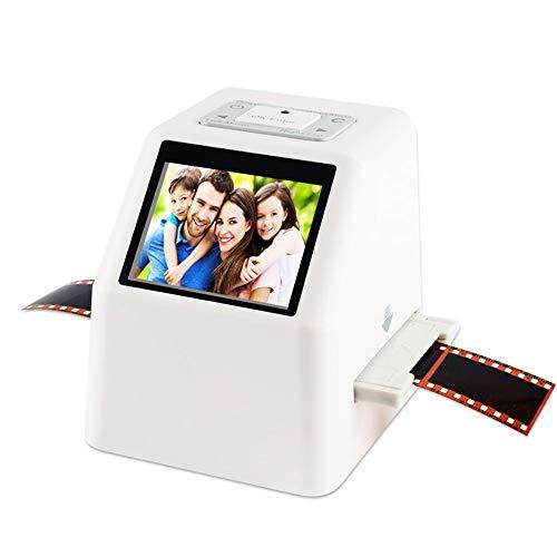 Lovewouge - Scanner per pellicole e diapositive, converte da 35 mm, 126, 110, Super 8 e 8 mm, per immagini JPEG da 22 Megapixel, memoria integrata da 128 MB, schermo LCD 2,4