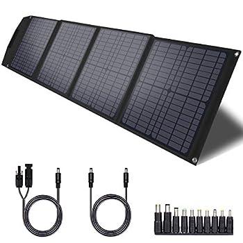 TWELSEAVAN 60W Solar Panel Portable Foldable Solar Charger for Jackery Explorer 160/240/500 Power Station/Suaoki S270/Goal Zero Yeti/Rockpals 250W Solar Generator with USB QC3.0 Port USB Type C Port