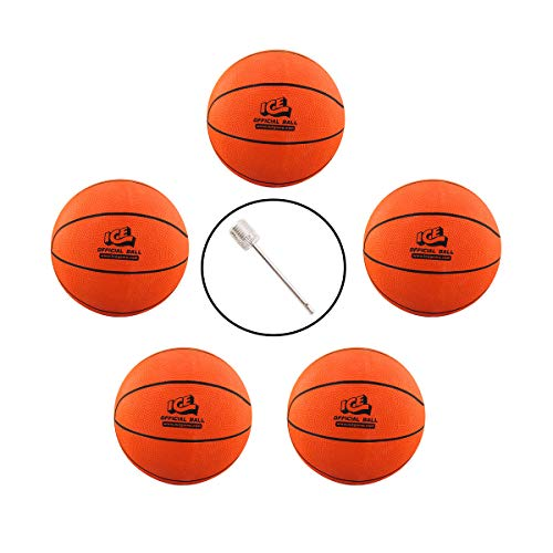 Buy Discount Game Room Guys Set of 5 8.5 ICE Basketballs with Inflating Needle