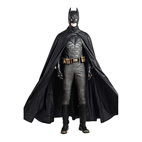 QWEASZER Justice League Dark Knight Batman 1: 1 Kostüm Deluxe Edition Bruce Wayne Superheld Cosplay Kleidung Kostüm Body Overalls Film Kleidung Requisiten Anpassbare Größe,Batman-S