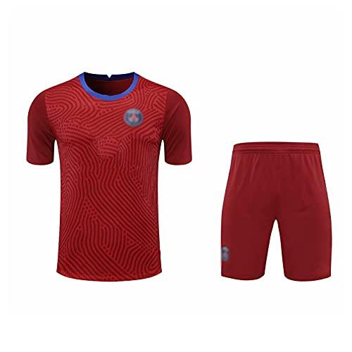 oein Camiseta de fútbol para hombre, equipo de competición, ropa de entrenamiento suave, transpirable, camiseta de fútbol para adultos, camiseta unisex de Champions League (color rojo, tamaño: XXL)