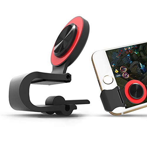 Mobile Phone Joystick Gaming Controller,Aim Keys L1R1 and Gamepad Rules of Survival,Cellphone Game Trigger,Battle Royale Sensitive Shoot (Joystick red)