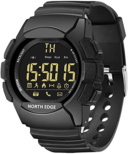 Los hombres s al aire libre reloj de pulsera inteligente Bluetooth 100 m impermeable reloj militar podómetro contador calorías cronómetro reloj correa de goma fitness