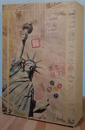 Unbekannt Dekor Kleiderschrank mit 4 Regaleinsätzen ca. 105 x 45 x 158 cm.
