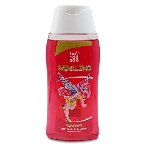 Badulino Kinder Duschgel & Shampoo Himbeere Inhalt: 200 ml, Duschbad, Badespass, Badusan, Kinderduschgel
