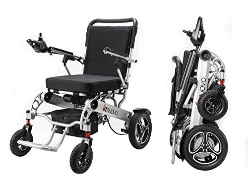 Innuovo Wide Seat Folding Electric Wheelchair for Adults, Lightweight Foldable Powered Wheelchair, Power Wheelchair, Portable Folding Carry Wheelchairs, Durable Wheelchair