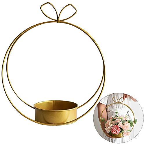 Pumpymly 2 szt. metalowe dekoracje na stół weselny aranżacje kwiatowe na stoły recepcyjne elementy centralne żelazne geometryczne zrób to sam złote ozdoby