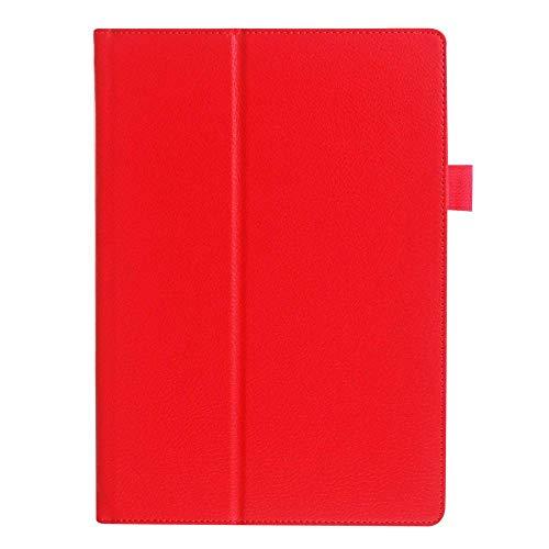 Funda de piel para Lenovo Tab2 A10-70F / L A10-30 x30f 10 1 pulgadas para Lenovo Tab3 10 Business X103F TB3-X70F / M Cover - Color rojo