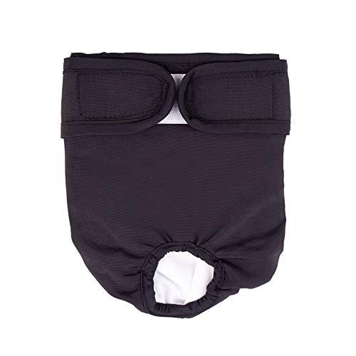 BePetMia Waschbare Windeln für Hunde, Hygiene-Unterhose für Hunde in Hitze, 5 Größen XS bis XL, geeignet für alle Hunde (M: 40-55cm, Schwarz)