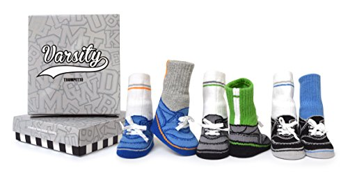 Trumpette Baby Boys Sock Set-6 Pairs, Varsity-Assorted Colors, 0-12 Months