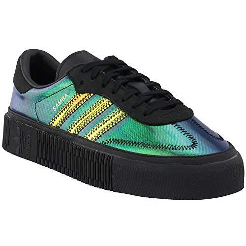 adidas Womens Sambarose W Platform Sneakers Casual Sneakers, Black, 6.5