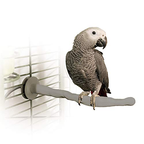 K&H PET PRODUCTS Thermo-Perch Heated Bird Perch Gray Medium...