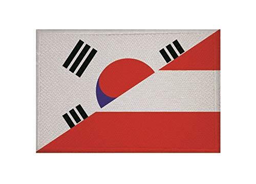 U24 Aufnäher Süd- Korea-Österreich Fahne Flagge Aufbügler Patch 9 x 6 cm
