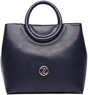 Zeneve London Amelia Satchel Bag For Women - Navy