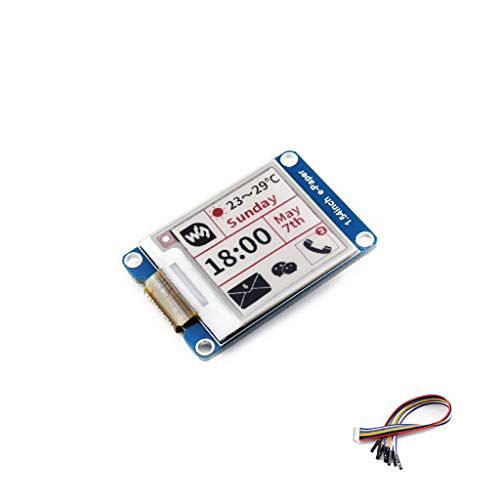 Tri-color 1.54 Inch E-Ink Display Module Three-color Resolution 200x200 3.3v E-paper Electronic Screen Panel with Embedded Controller SPI Interface Support for Raspberry Pi/STM32/Nucleo/Jetson Nano