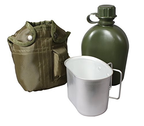 Rothco 3 Piece 1 Quart Canteen Kit With Cover & Aluminum Cup