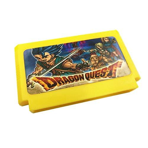 Jhana Cartucho de juego Dragon Warrior Remix, Progress Saver, Dragon Warrior 1/2/3/4, Dragon Quest 1/2/3/4 para 8 bits 60 pines 8 bits