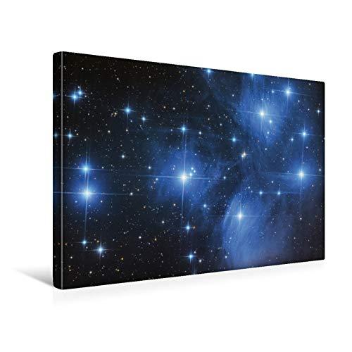 Premium Textil-Leinwand 45 cm x 30 cm quer Plejaden - Offener Sternhaufen im Sternbild Stier
