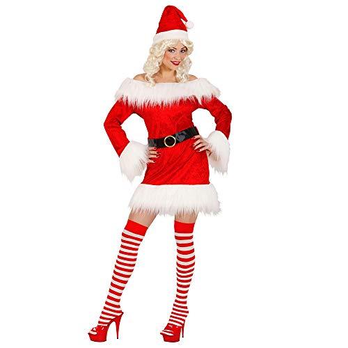 Widmann Miss Santa en velours et peluche L rouge