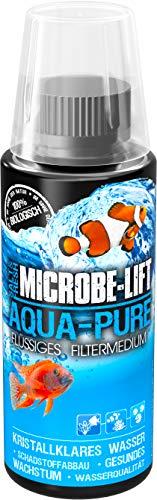 MICROBE-LIFT Aqua-Pure – Medio de Filtro líquido con bacterias vivas para Cualquier Acuario de Agua Dulce y Agua Salada, 118 ml