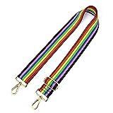 Adjustable Replacement Guitar Strap Styled Handbag Purse Strap (Rainbow)