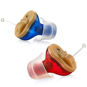 Premium Digital Hearing Amplifier - Invisible in Canal  CIC  in-Ear Mini Sound Enhancer Set Near-Invisible Noise Cancelling Personal Sound Hearing Amplifier - Pair - MZ-21
