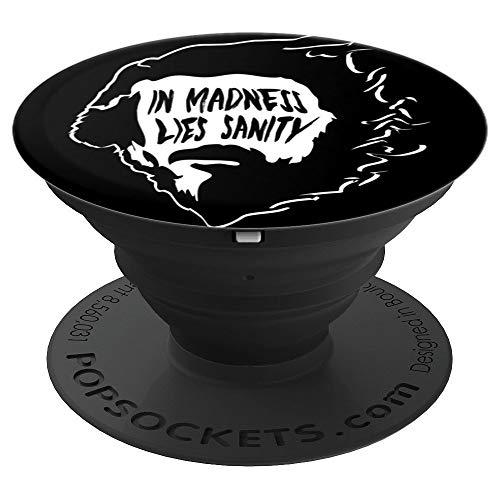 Alan Watts - In Madness Lies Sanity - PopSockets Ausziehbarer Sockel und Griff für Smartphones und Tablets