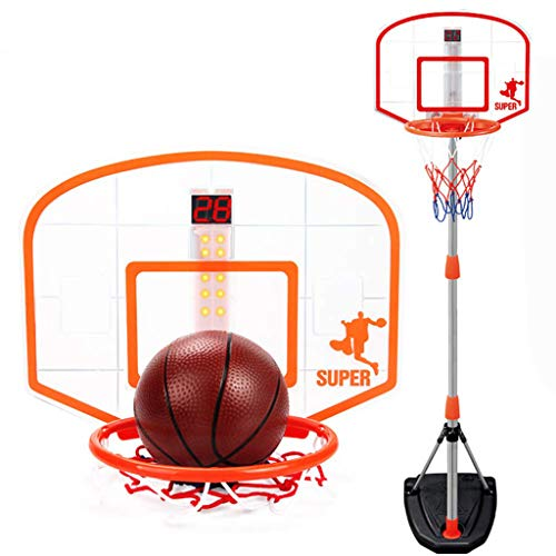 Buy Discount Portable Basketball Stand,Courtside Height Adjustable Portable Basketball System, for I...