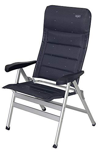 LUXUS chaise pliante avec - 1,20 cm-dossier haut-chaise de camping-aLUMINIUM - 8 niveaux de réglage-aLU-chaise - 4,8 kg-couleur légèrement lt. figure-tERRA-charge max. : 120 kg-hOLLY sunshade contre supplément disponible avec hOLLY fÄCHERSCHIRMEN-hOLLY ® produits sTABIELO-innovation fabriqué en allemagne