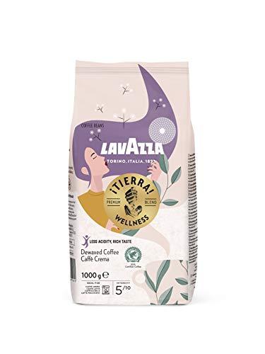 Lavazza Kaffeebohnen - Tierra Wellness - wenig Säure und wenig Koffein - 1er Pack (1 x 1kg)