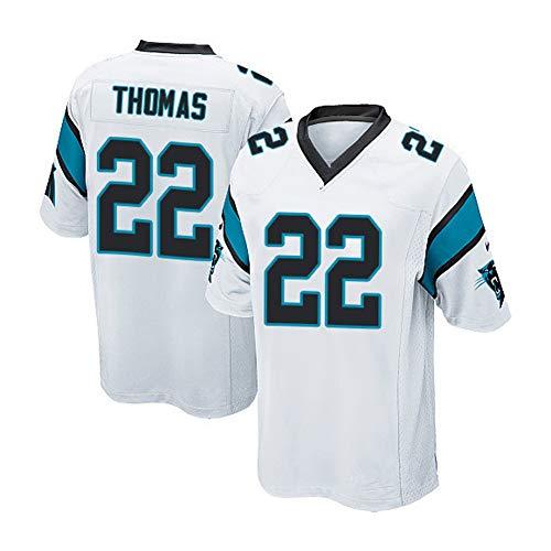 22# Panthers Rugby versión bordada camiseta deportiva casual 100% fibra de poliéster, cómoda y transpirable, 123, 123, color blanco, tamaño XXXL(198