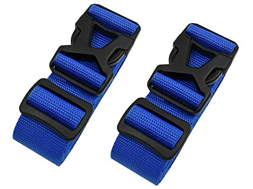 Luggage Straps - Adjustable Suitcase Packing Belts with Buckle Closure Travel Accessories by Riemot(3.8 * 200CM+3.8 * 230CM)Blue