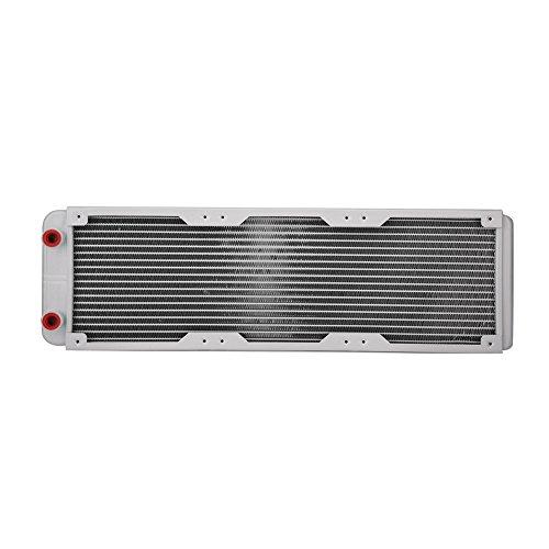 Bewinner G1/4 Radiador de Enfriamiento de Aluminio,Disipador de Calor por Agua Intercambiador de Calor Líquido, Capa Galvanizada y Aluminio,Antioxidante Enfriador de Refrigeracion(360mm)