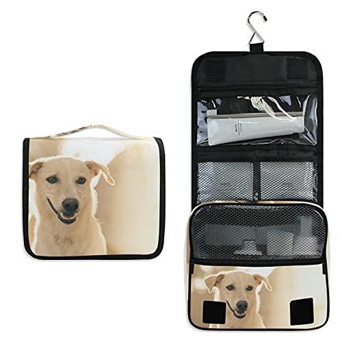 Cachorro De Perro Blanco Bolsa de Aseo Colgante Organizador Cosmético de Viaje Ducha Bolsa de Baño Neceser de Viaje para Maquillaje niñas Mujeres