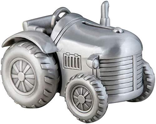 XHAEJ 2021 Neue Andenken Geldbox Metall Kleiner Vierrad Traktor Sparschweiner Pflanzer Änderung Sparschwein Möbeldekorationen Perfekt Einzigartiges Geschenk