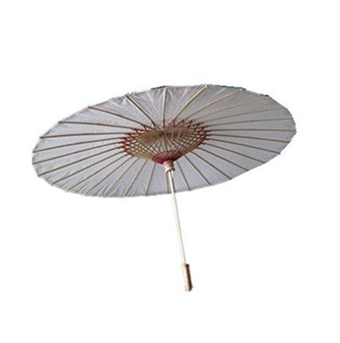 8m Sombrilla/paraguas de bambú estilo chino/japonés (color blanco).