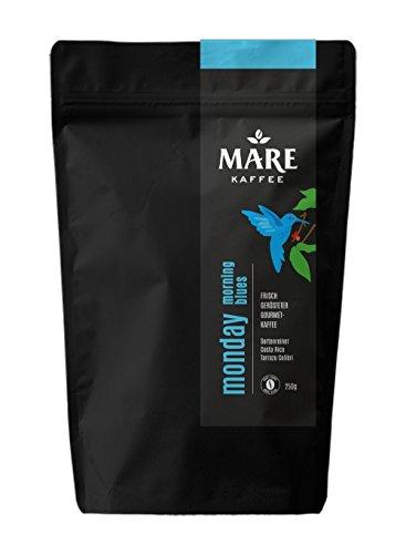 Mare Kaffee - monday morning blues - 100% Arabica - Kaffee, Vollautomat, Handfilter, Stempelkanne, Filterkaffeemaschine, AeroPress (1.000gr ganze Bohne)