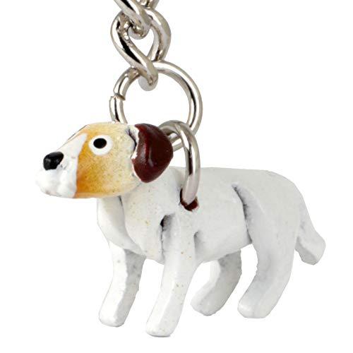 Monkimau sleutelhanger Jack Russell Terrier hond van leer