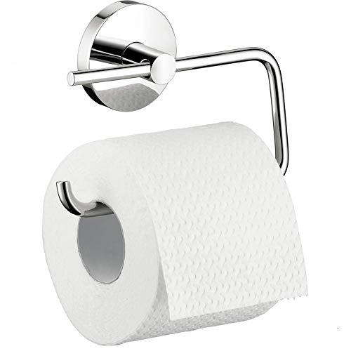 hansgrohe Toilettenpapierhalter und WC-Bürste, verchromt, Logis