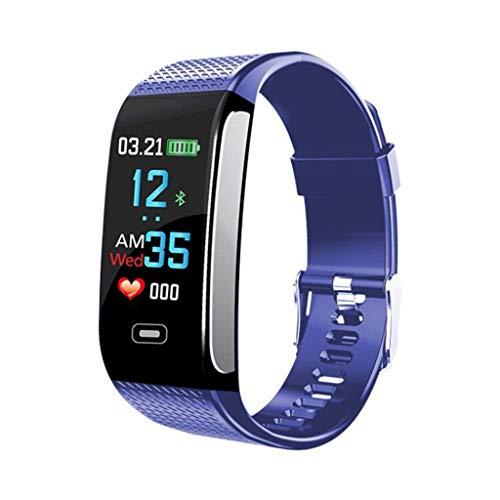 Gymfox Fitnesstracker, smartwatch, IP67, waterdicht, touchscreen, activiteitstracker met hartslagmeter, calorieënteller, stappenteller, smart armband voor Android en iOS smartphones blauw