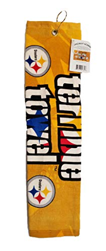 Tromic USA NFL Steelers Logo Yellow Terrible Towel 25' x 15' Golf Towel 100% Cotton Gift