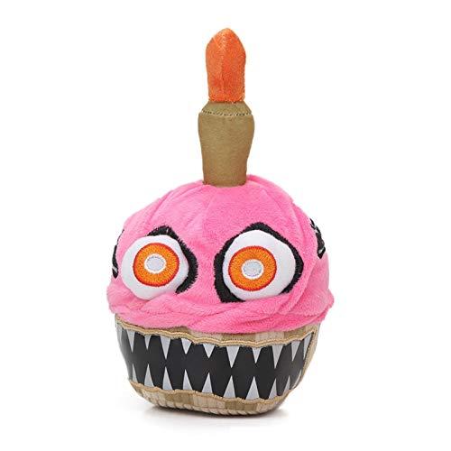 JUNMAIDZ Juguete de Peluche Cinco Noches en Freddy'S Series 2 Nightmare Cupcake 7.9Inch FNAF Peluche Juguetes Juguetes de Peluche Bebe (Color : Pink Cake)