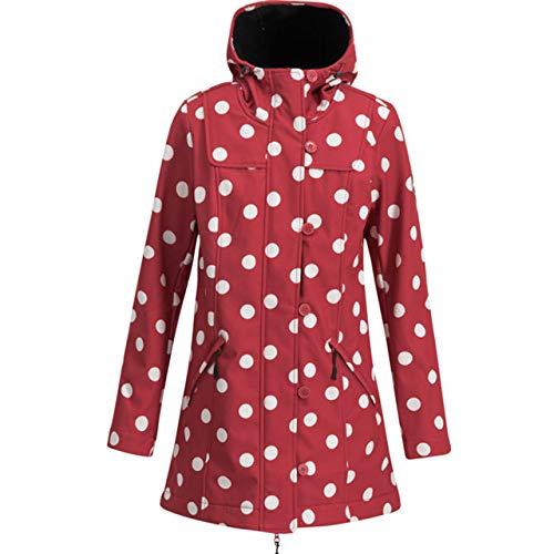 Blutsgeschwister Wild Weather Long Anorak Damen Jacke Mantel, Größe:XXL, Farbe:Rot (Darling dot)