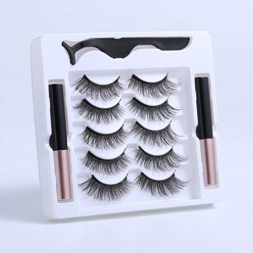 UNICK Hot Sale Long-lasting Waterproof Handmade Natural Long With Tweezer Magnetic Eyeliner Lash Extension Magnetic Eyelashes(Y-25) 4